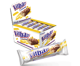 "Wafer bar ""milk-glazed vitba.by with corn flakes"""