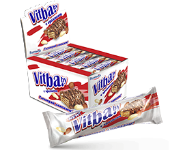 "Wafer bar ""milk-glazed vitba.by with peanuts"""
