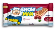 "Sponge cake ""Snow Max"" with ""cherry"" filling decorated"